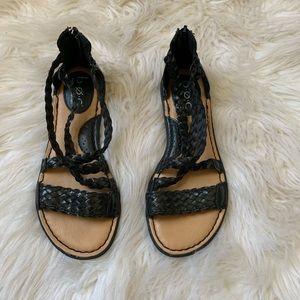 🌛Boc🌛 black comfortable sandals